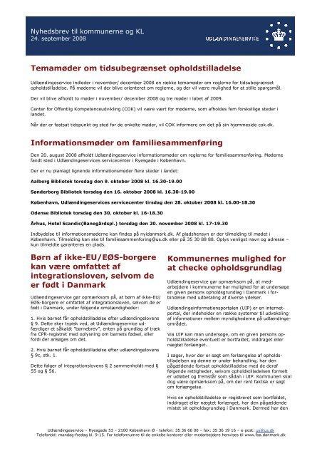 Nyhedsbrev til kommunerne og KL, september 2008 - Ny i Danmark