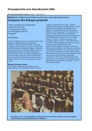 Pressestimmen - Singkreis Adliswil