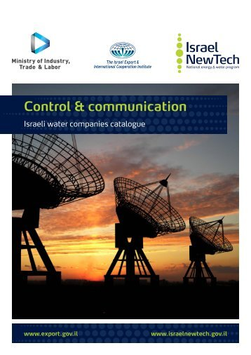 Israeli water companies catalogue for Control & Communication