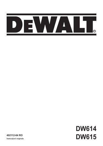 maşină de frezat dw614, dw615 - Service - DeWALT