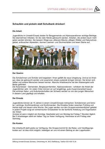 Info-Flyer - Naturschutz.ch