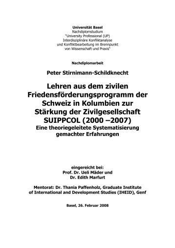INHALTSVERZEICHNIS - ask! Arbeitsgruppe Schweiz-Kolumbien
