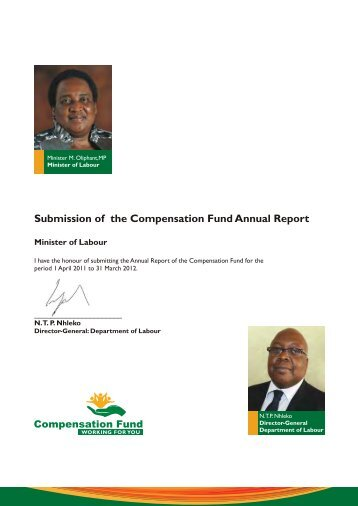 Compensation Fund Annual Report 2012 - Department of Labour
