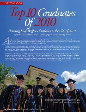 Top 10 Graduates of 2010 - Katy Magazine