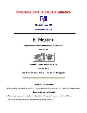 Programa de Navidad - Ministerios PM