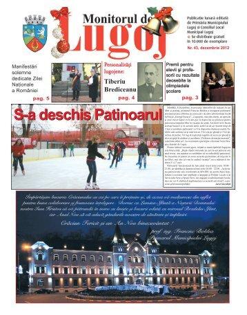 Monitorul de Lugoj Nr. 43 - Decembrie 2012 - Primăria Municipiului ...