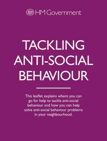 TACKLING ANTI-SOCIAL BEHAVIOUR - Devon & Cornwall Police