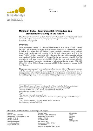Mining in India - Environmental referendum is a precedent for ...