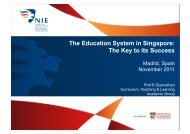The Education System in Singapore: The Key to its Success - Fedea