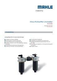 Anbau-Rücklauffilter umschaltbar Pi 5100