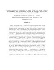 Accurate Group Delay Measurement for Radial Velocity Instruments ...
