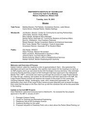 Community Task Force Meeting Minutes - Wentworth Institute of ...