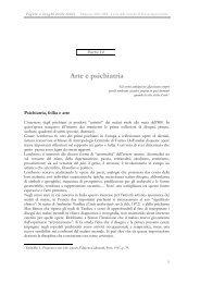 Arte e psichiatria - Dipartimento di Storia dell'Arte e Spettacolo