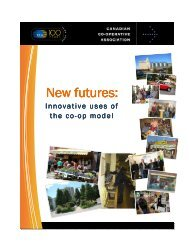 New futures: New futures: - Canadian Co-operative Association