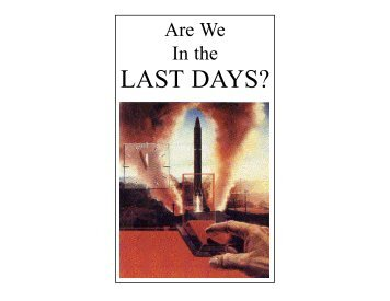 Are We In the Last Days? - Amazon S3