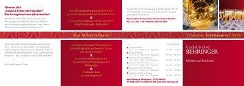 Download (PDF) - Hotel Restaurant Behringer