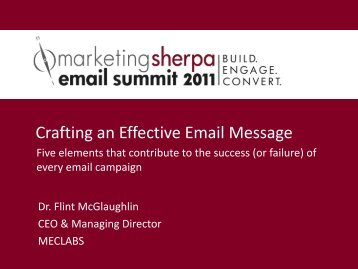 Crafting an Effective Email Message - MarketingSherpa