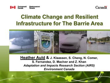 Climate Change Impacts and Municipal Infrastructure