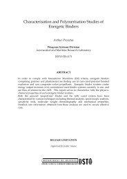 Characterisation and Polymerisation Studies of Energetic Binders