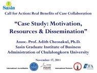 """Case Study: Motivation, Resources & Dissemination"""