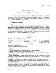 Clauze obligatorii - model contract - GeoEcoMar