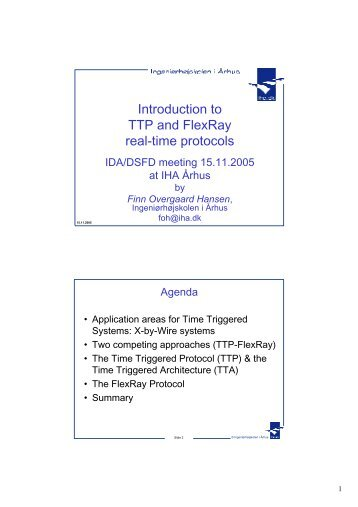 Introduction to TTP and FlexRay real-time protocols