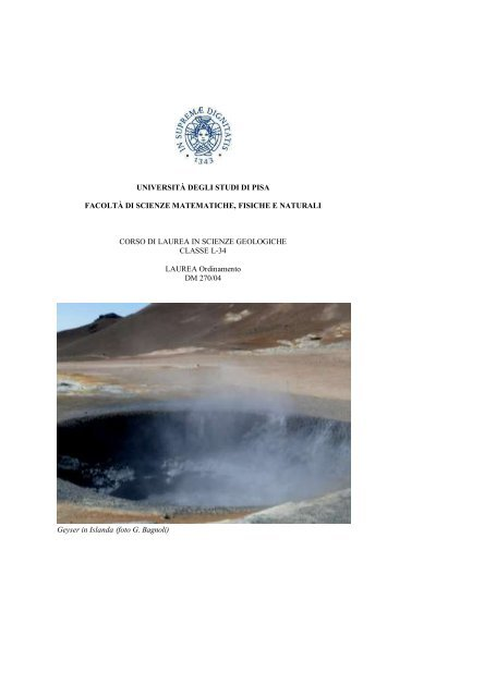 datazione di rocce ed eventi geologici esercizio 13
