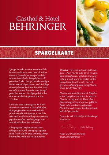 Hotel Restaurant Behringer