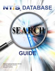 DATABASE GUIDE - National Technical Information Service