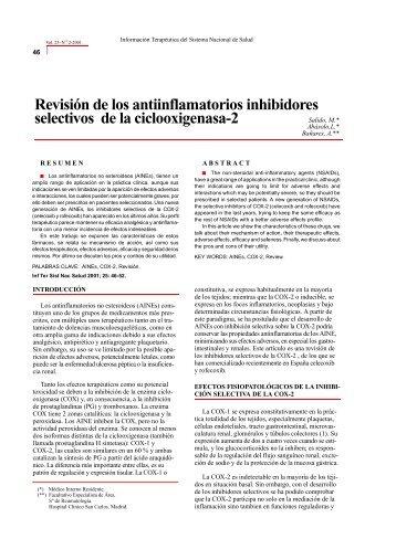Revisión de los Inhibidores de la COX-2