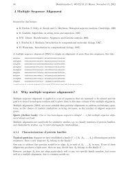 Multiple sequence alignment - Algorithms in Bioinformatics