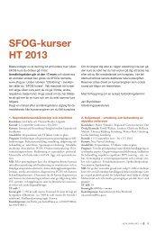 SFOG-kurser HT 2013