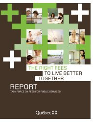 Report: The Right Fees to Live Better Together - Commission sur le ...
