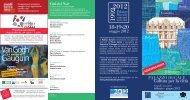 Depliant Grandi incontri 2012 aggiornamento - Palazzo Ducale
