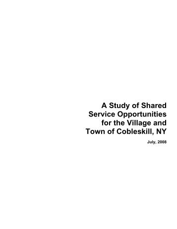 A Study of Shared Service Opportunities for the ... - Schoharie County