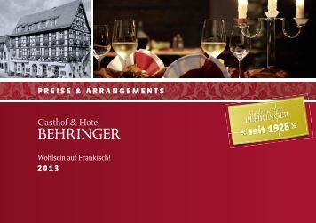 Extraspro Zimmer und Nacht - Hotel Restaurant Behringer