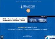 EBSD à Haute Résolution Angulaire et Déformations ... - IM2NP