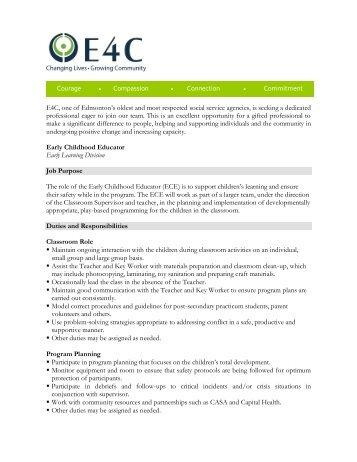 job description template e4c