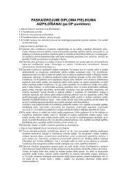Diploma pielikums - Akadēmiskās informācijas centrs