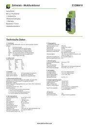 E1ZMW10 Zeitrelais - Multifunktional Technische Daten