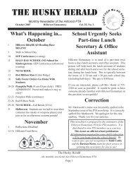 Husky Herald 10-07.indd - Hillcrest Elementary