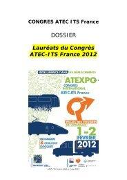 DOSSIER Lauréats du Congrès ATEC-ITS France 2012