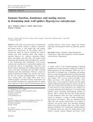 Immune function, dominance and mating success in drumming male ...