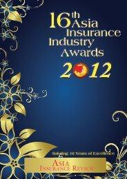 Saluting 16 Years of Excellence - Asia Insurance Review