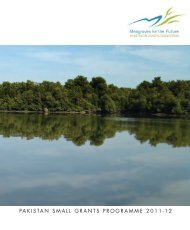 MFF Pakistan Small Grants Projects - Mangroves for the Future
