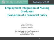 Employment Integration of Nursing: Evaluation of a Provincial Policy