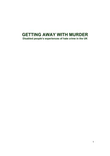 getting away with murder - Birmingham Disability Resource Centre