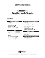 Weather and Climate; Grade 6 Chapter 11 - Peary Middle School