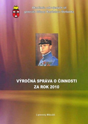 Výročná správa o činnosti za rok 2010_3 - Ministerstvo obrany SR