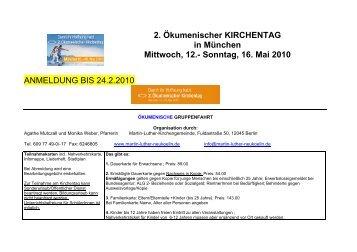 2. Ökumenischer KIRCHENTAG in München Mittwoch, 12.- Sonntag ...
